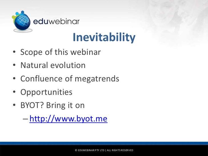 Bring your own technology: Understanding the inevitable Slide 3