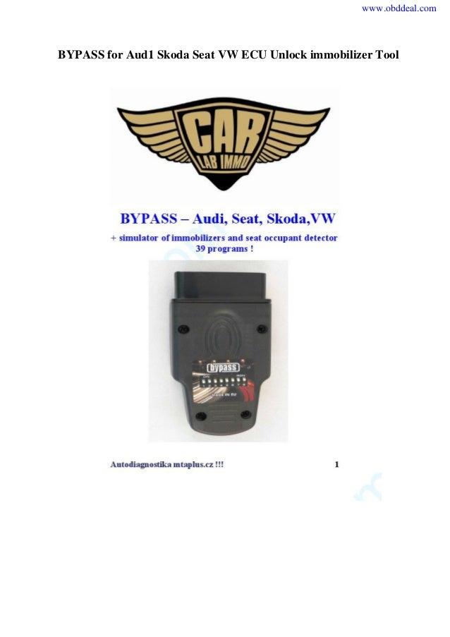 BYPASS for Aud1 Skoda Seat VW ECU Unlock immobilizer Tool www.obddeal.com