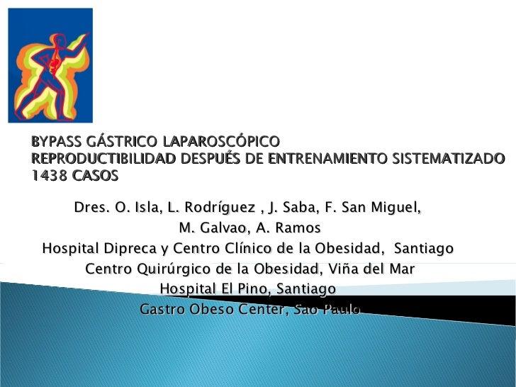Dres. O. Isla, L. Rodríguez , J. Saba, F. San Miguel,  M. Galvao, A. Ramos Hospital Dipreca y Centro Clínico de la Obesida...