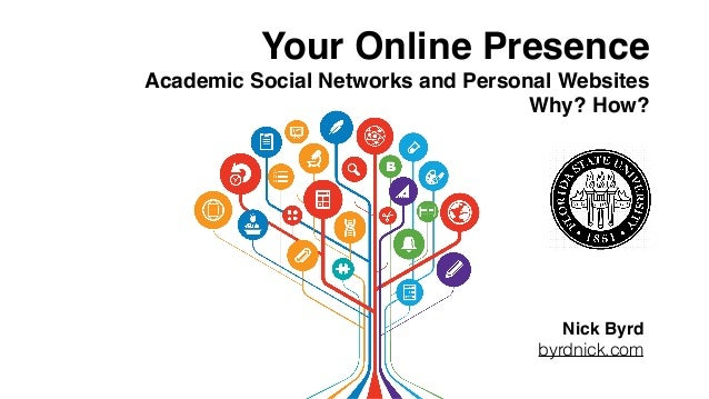Your Online Presence Academic Social Networks and Personal Websites Why? How? Nick Byrd byrdnick.com