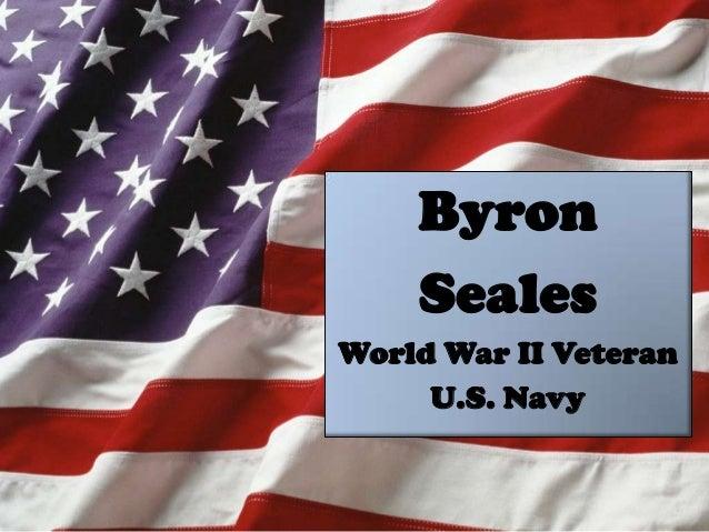 Byron Seales World War II Veteran U.S. Navy