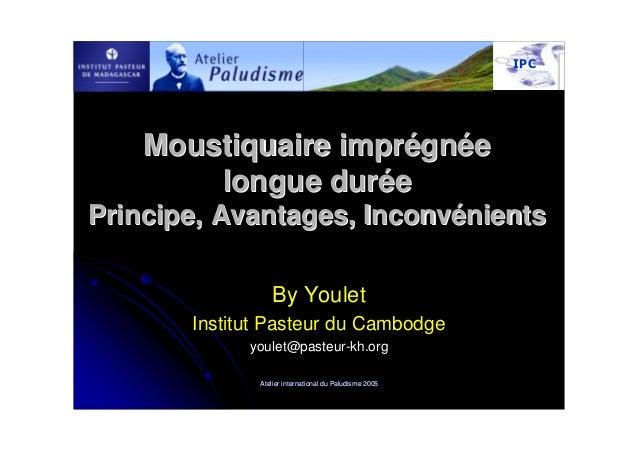 Moustiquaire imprégnée        longue duréePrincipe, Avantages, Inconvénients                  By Youlet       Institut Pas...