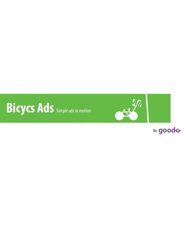 """Bicycs Ads Simple ads in motion !"""" !""""""""#""""By"""