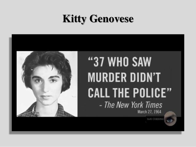 37 who saw murder didn t call the police