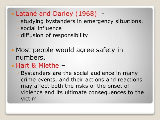 An analysis of the bystander effect in psychology