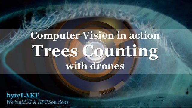 byteLAKE We build AI & HPC Solutions Computer Vision in action Trees Counting with drones