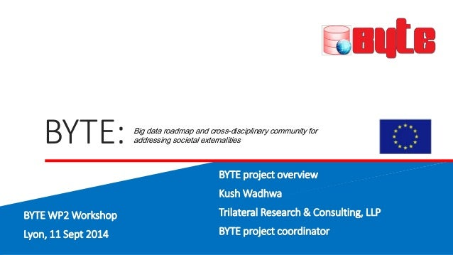 BYTE:  Big data roadmap and cross-disciplinary community for  addressing societal externalities  BYTE project overview  Ku...