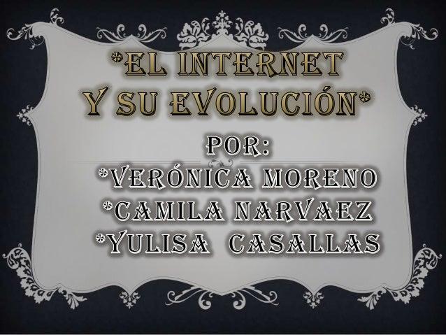 Internet es un conjunto descentralizado de redes de comunicación interconectadas que utilizan la familia de protocolos TCP...