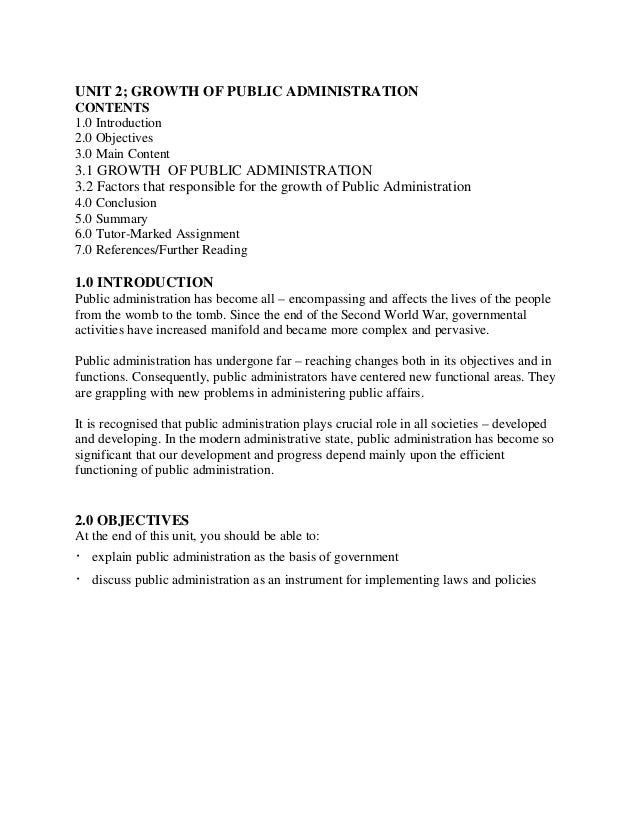 public administration resumes