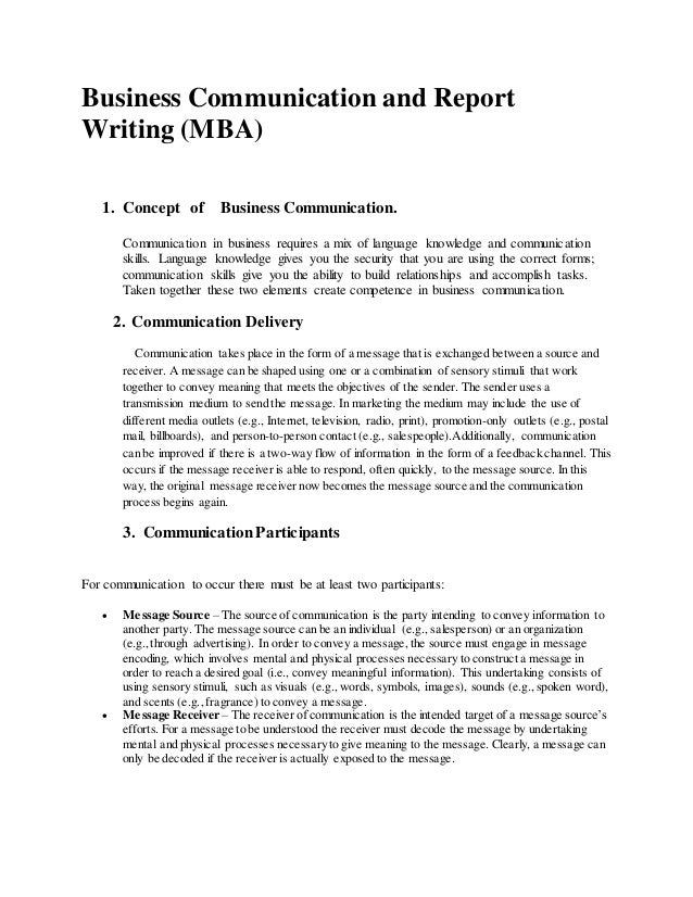 business report sample for students