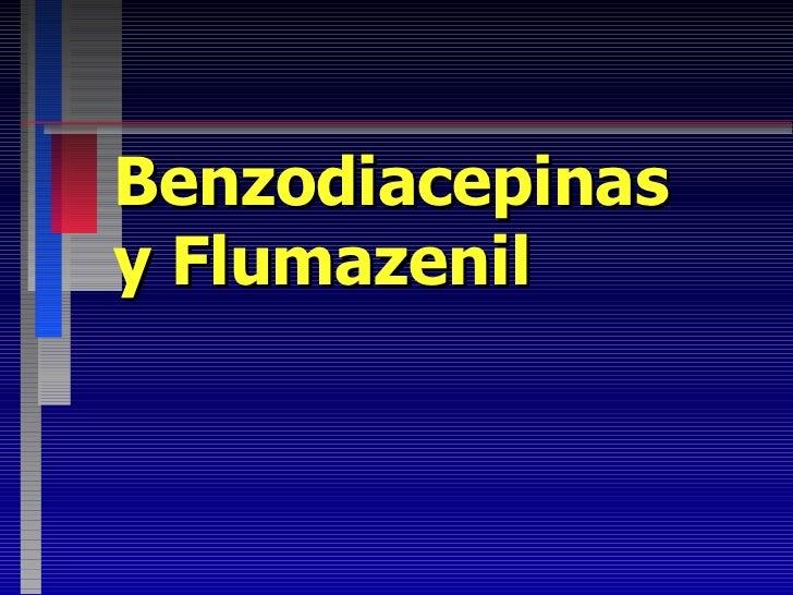 Benzodiacepinas y Flumazenil