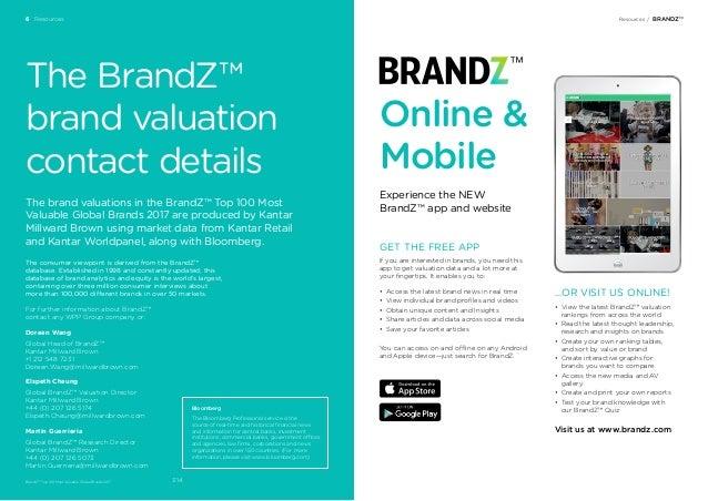 2017 BrandZ Top 100 Global Brands