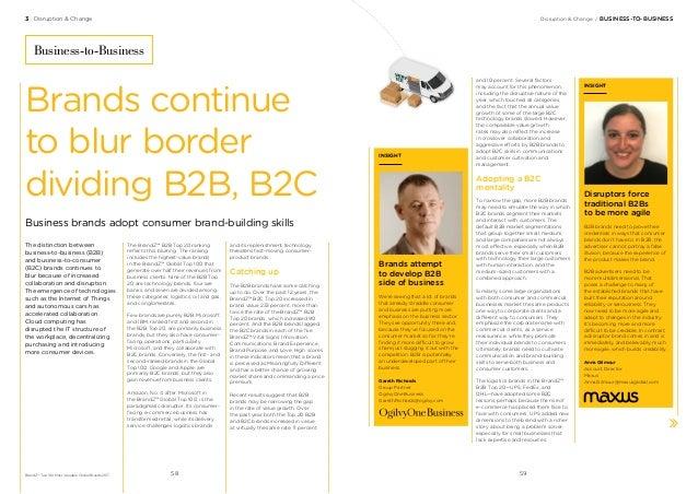 3 Disruption & Change Disruption & Change/BUSINESS-TO-BUSINESS The distinction between business-to-business (B2B) and bu...