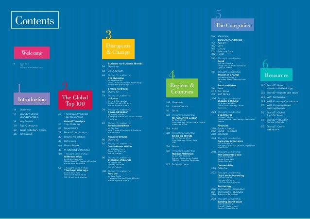 Contents 14Overview 17  BrandZ™ Strong Brands Portfolio 18 Key Results 20 Top 10 Analysis 22 Cross-Category Trends 26...