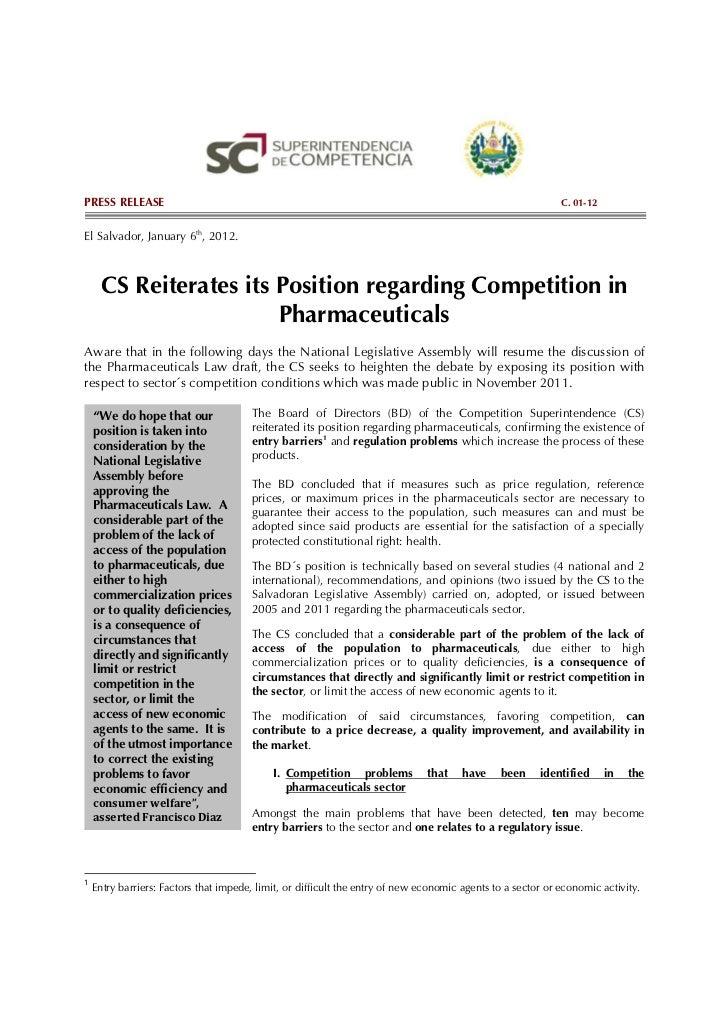 PRESS RELEASE                                                                                                C. 01-12El Sa...