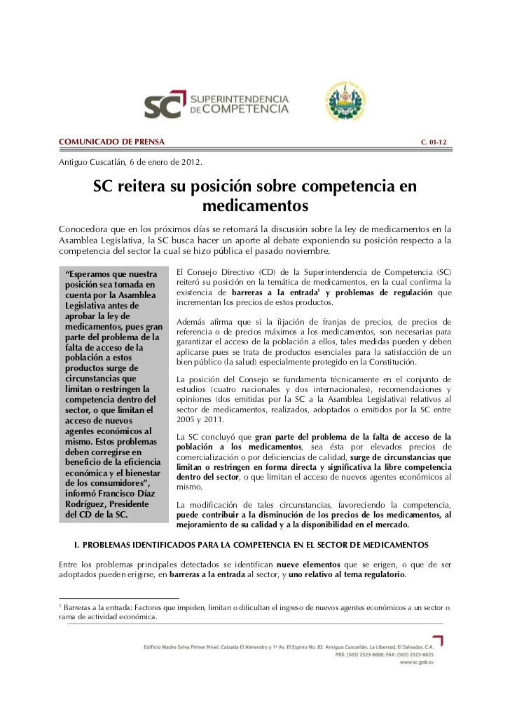COMUNICADO DE PRENSA                                                                                            C. 01-12An...
