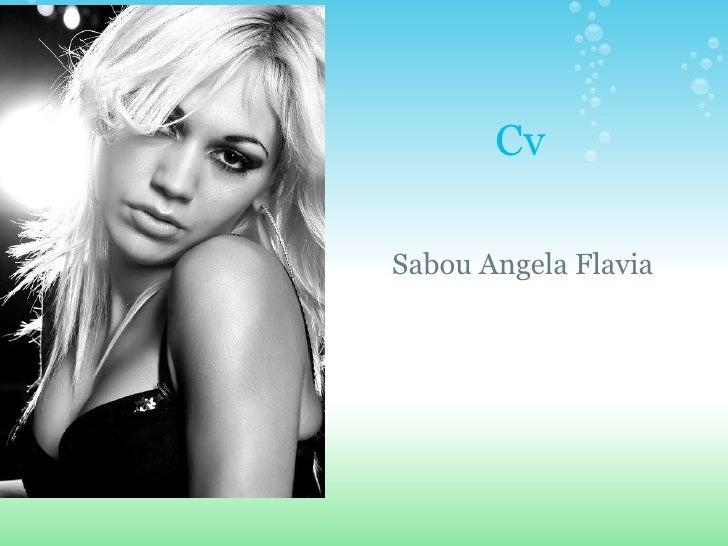 Cv Sabou Angela Flavia