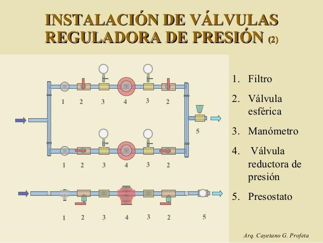 C 2 instalaciones sanitarias en edificios en altura fc - Valvula reductora de presion ...