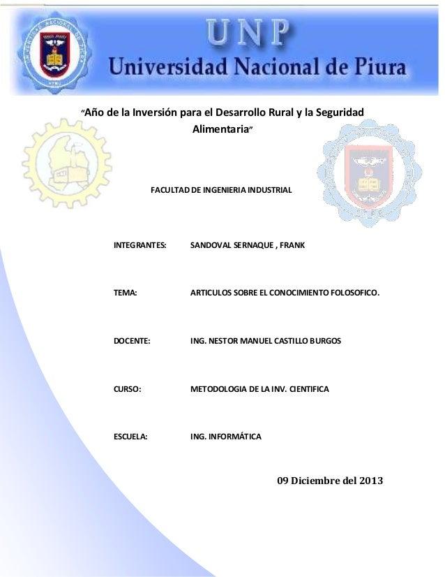 """""""Año  de la Inversión para el Desarrollo Rural y la Seguridad Alimentaria""""  FACULTAD DE INGENIERIA INDUSTRIAL  INTEGRANTES..."""