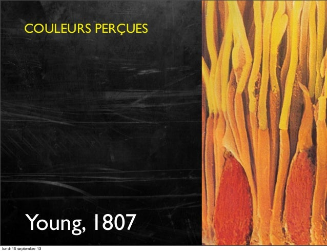 COULEURS PERÇUES  Young, 1807 lundi 16 septembre 13