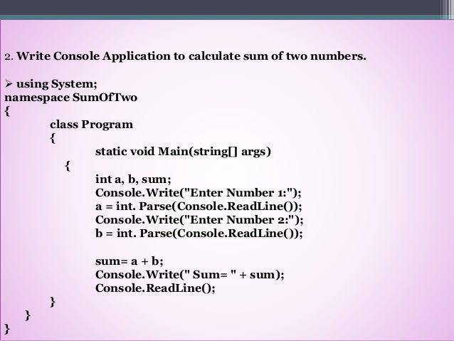 C# net