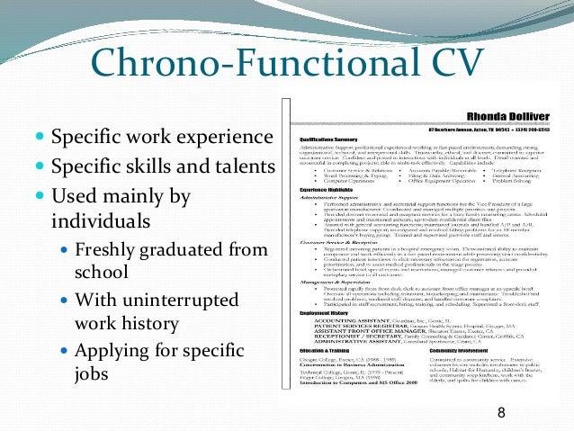 effective C.V writting