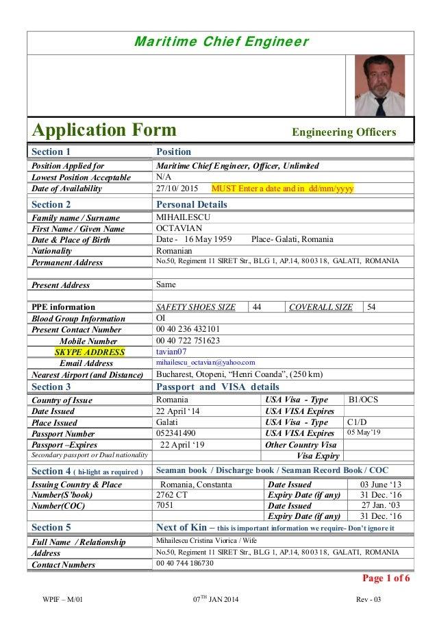 C.E. Octavian Mihailescu application form-officers-engineers- 13-09-1…