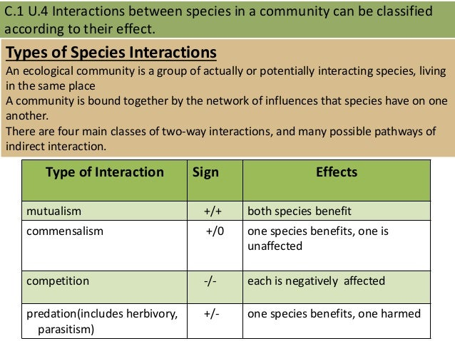 C.1 species and community