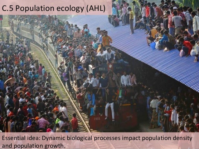 C.5 Population ecology (AHL) Essential idea: Dynamic biological processes impact population density and population growth.