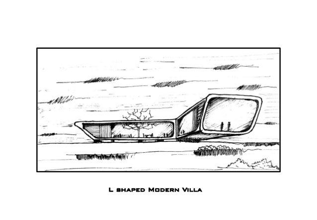 L shaped Modern Villa