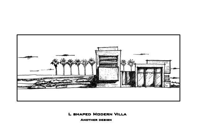 L shaped Modern Villa Another design