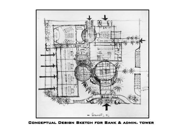 Conceptual Design Sketch for Bank & admin. tower