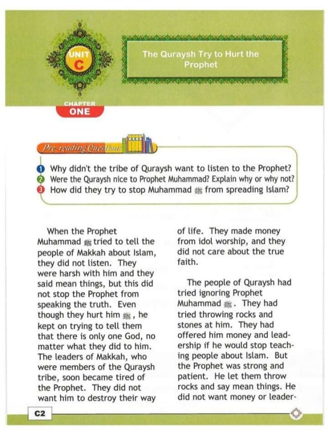 C 1 The Quraysh Tries To Hurt The Prophet