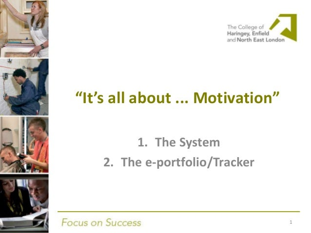 """""""It's all about ... Motivation""""1. The System2. The e-portfolio/Tracker1"""