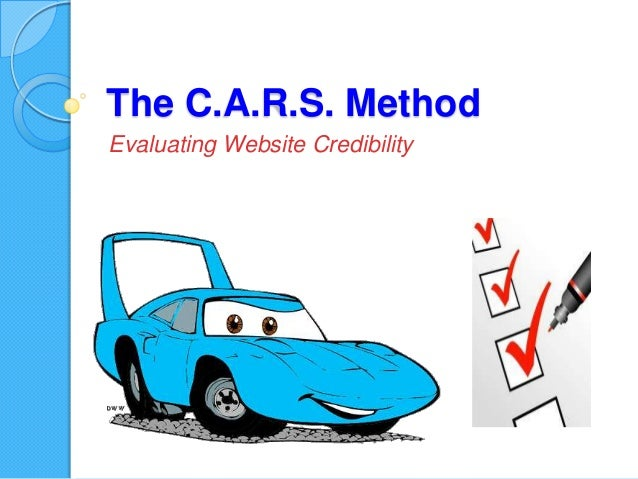 evaluating websites for credibility Websites: checklist this is a printable checklist for evaluating websites credibility is there an author listed _____ does the author cite sources or a bibliography.