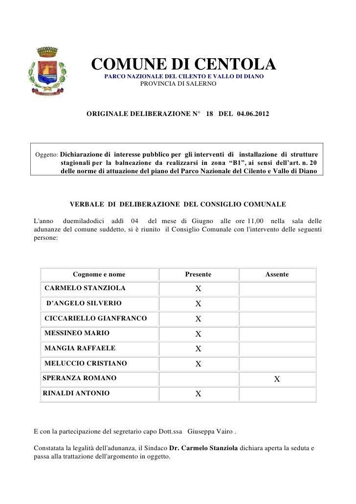 COMUNE DI CENTOLA                        PARCO NAZIONALE DEL CILENTO E VALLO DI DIANO                                     ...