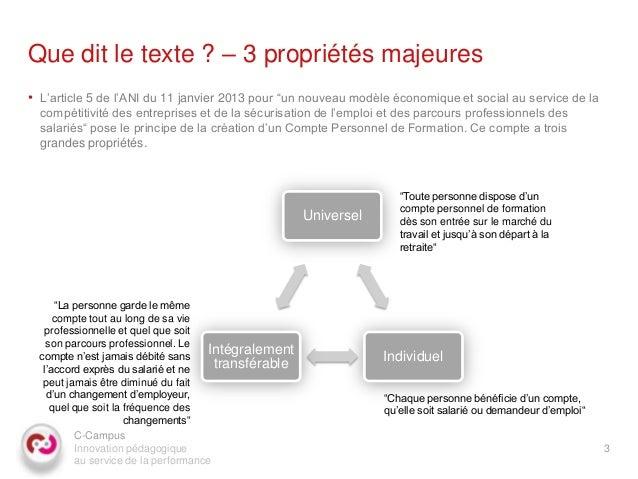 C campus marc-dennery_compte_personnel_formation_2013_01_16_v2 Slide 3