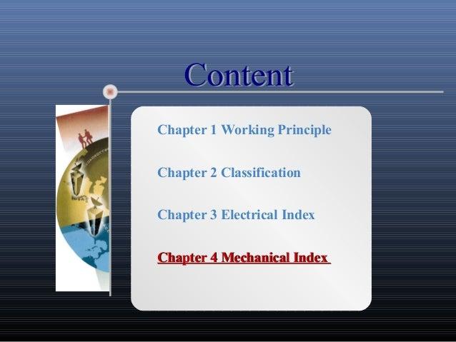 Chapter 1 Working PrincipleChapter 2 ClassificationChapter 3 Electrical IndexChapter 4 Mechanical IndexChapter 4 Mechanica...