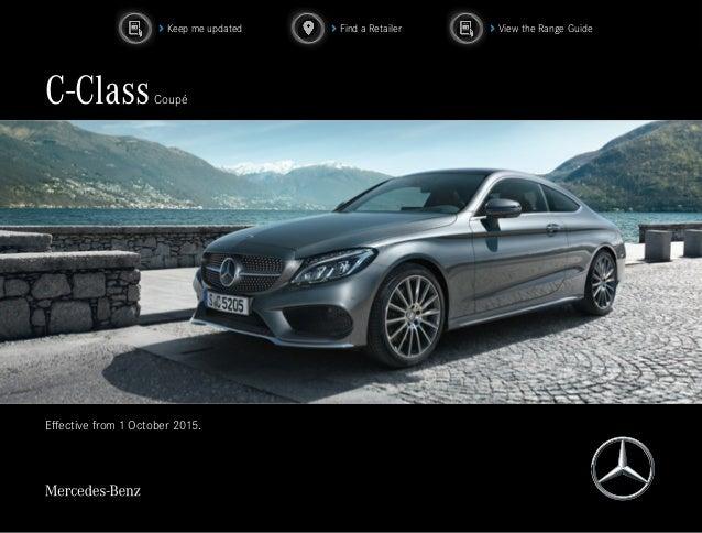 Mercedes Benz Paramus >> 2016 Mercedes C-Class Coupe - Brochure (PDF)