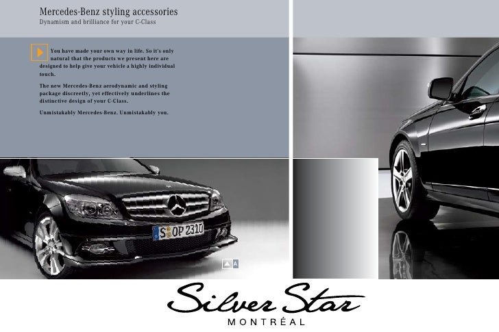 2010 mercedes benz c class accessories silver star for Mercedes benz c300 accessories