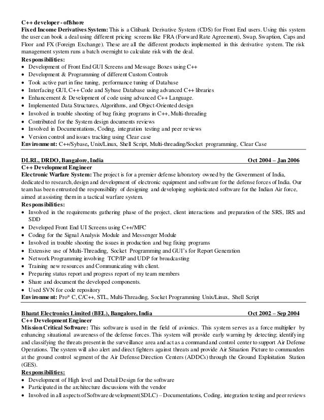 tandem developer resume