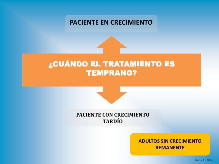 PACIENTE EN CRECIMIENTO¿CUÁNDO EL TRATAMIENTO ES       TEMPRANO?     PACIENTE CON CRECIMIENTO              TARDÍO         ...