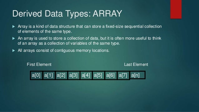 data type and array Arrays combine data points of the same data type into one data structure, and clusters combine data points of multiple data types into one data structure an array consists of elements and dimensions.