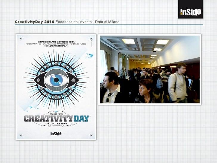 CreativityDay 2010 Feedback dell'evento - Data di Milano