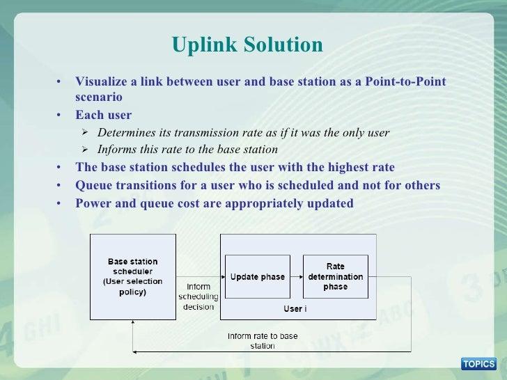 Uplink Solution <ul><li>Visualize a link between user and base station as a Point-to-Point scenario </li></ul><ul><li>Each...
