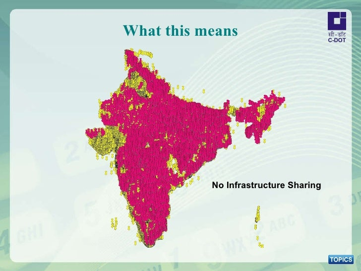 What this means No Infrastructure Sharing