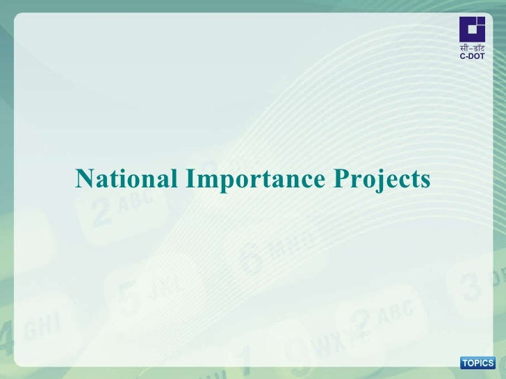 National Importance Projects