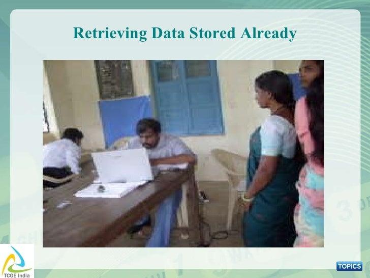 Retrieving Data Stored Already