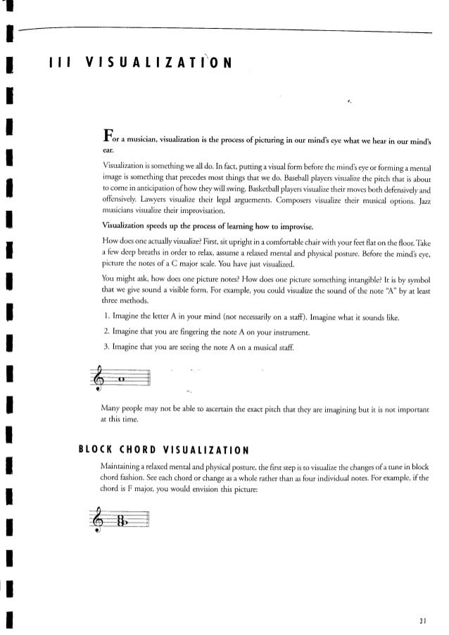 C Guitar Music Theory Jerry Bergonzi Vol 1 Melodic Structures