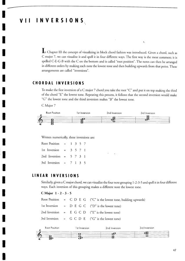 C guitar music theory - jerry bergonzi - vol 1 - melodic structures